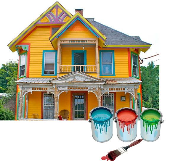 Фасадная краска по штукатурке: цвет и особенности применения