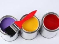 Три банки с краской