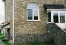 Фасад, облицованный камнем