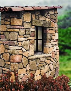 Кладовка, облицованная рваным камнем