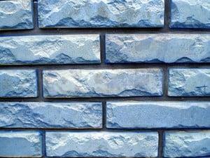 Фасадная плитка под голубой кирпич