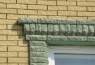 Декорирование фасада кирпичом