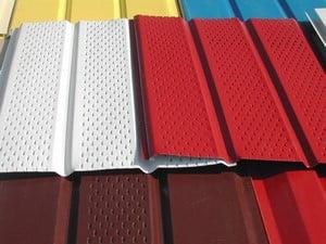 Разноцветные панели сайдинга
