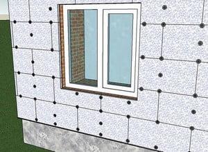 Использование пенопласта для утепления дома