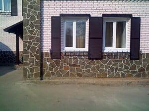 Использование разных элементов при отделке фасада