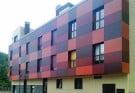 Здание, облицованное композитными панелями