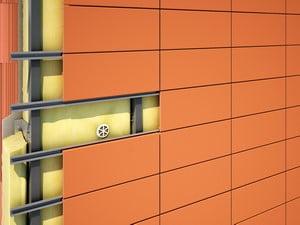 Отделка плиткой для создания вентилируемого фасада