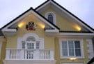Фасад дома из пенополистерола