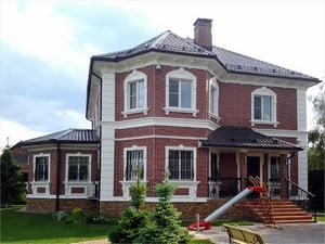 Богатый вид дома