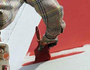 Покраска фасадной стены