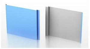Две панели разного цвета