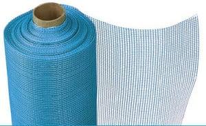 Рулон фасадной сетки голубого цвета