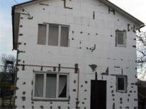 Пенопласт в фасаде