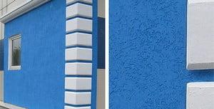 Покрашенный дом голубой краской