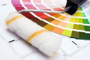 Валик и раскладка возможных цветов