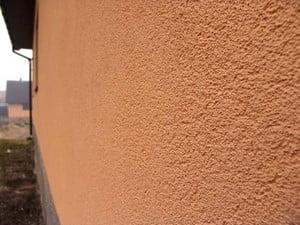 Персиковая фасадная штукатурка
