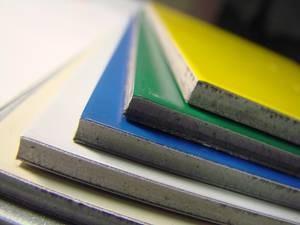 Разноцветные алюминиевые панели