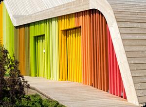 Разноцветный фасад
