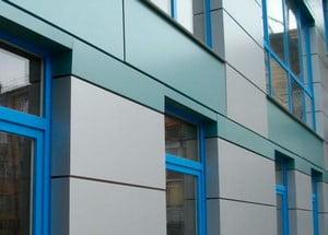Облицовка фасада алюминиевыми плитами