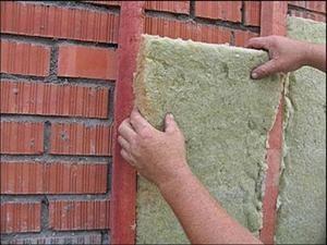 Утепления кирпичной стены минватой