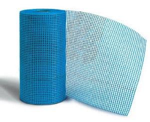 Голубая фасадная сетка