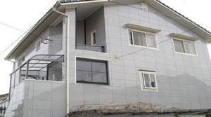 Дом облицован фасадными панелями