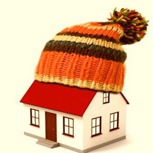 Домик в зимней шапке