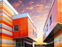 Разноцветное здание
