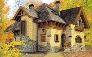 Фасад, облицованный разными материалами