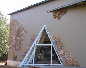 Создание фасада с помощью штукатурки