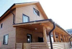 Дом, отделанный блок хаусом