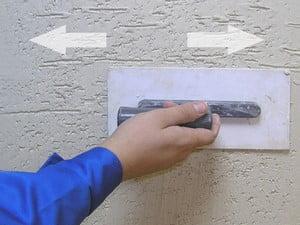 Пример штукатуривания короед