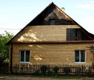 Облицовка деревянным блок хаусом