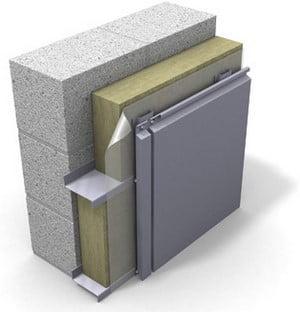 Отделка фасада металлической плиткой