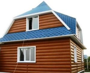 Дом, отделанный металлсайдингом