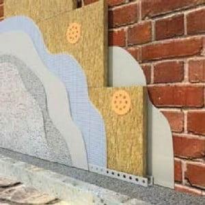Схема утепления фасада дома