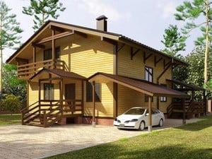 Двухэтажный красивый дом