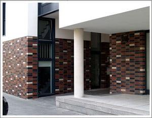 Красивый фасад с разными элементами