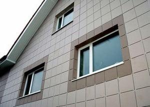 Дом, отделанный керамогранитом