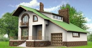 Макет стильного дома