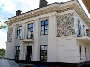 Варианты отделки фасада дома штукатуркой фото