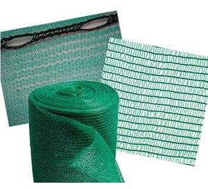 Зеленая фасадная сетка