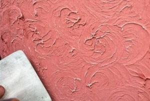 Розовая декоративная штукатурка