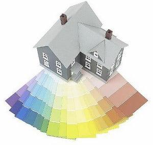 Палитра для покраски дома