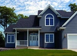 Дом, отделанный сайдингом