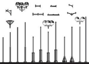 Схема металлических опор для освещения