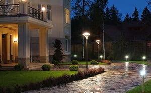 Освещение территории частного дома