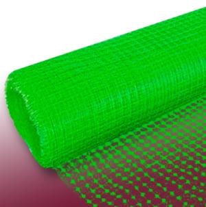Ярко-зеленая фасадная сетка