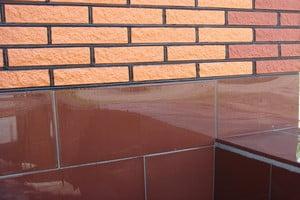 Отделка фасадной плиткой