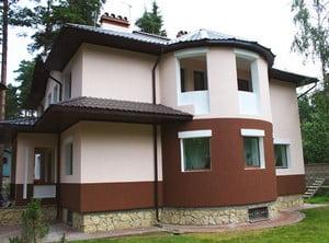 Стильный оштукатуренный дом